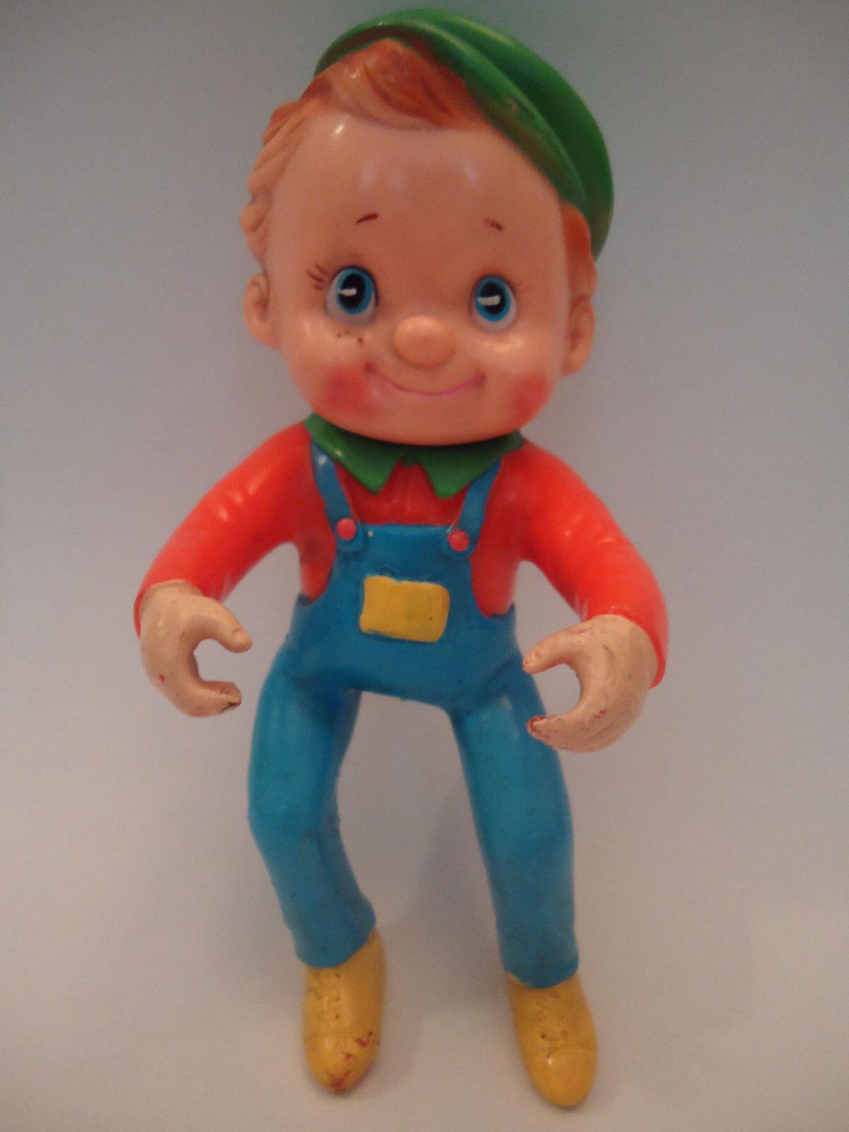Antiguo De Colección Masudaya rara muñeca de juguete Japón Goma Boy Figura 50 60s