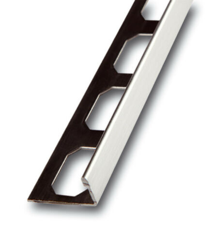 H8,0mm//L2,50m Winkelabschlussprofil Edelstahl gebürstet Fliesenschiene 4,69€//m