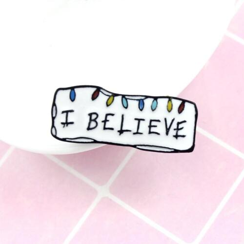 Women Ladies Chic White This Is A Positive Sign Badge Alloy Brooch Jewelry BT