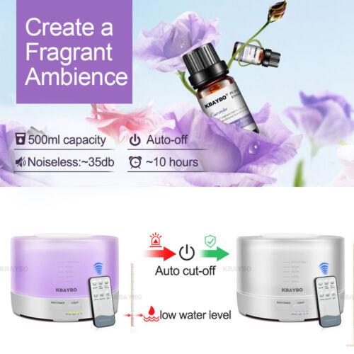 diffuseur huiles essentielles 500ml Télécommande À Ultrasons Avec 7 Couleurs
