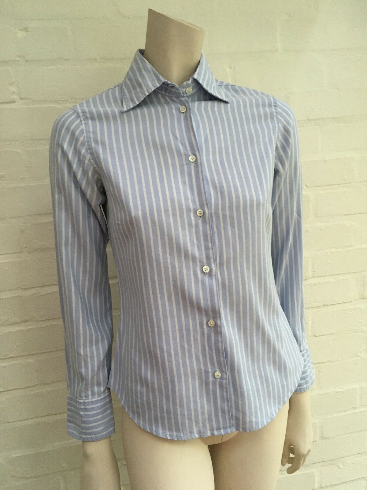 Brian & Barry MILANO BESPOKE OFFICE STRIPED BUTTON-UP SHIRT COTTON I 40 S