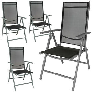 Image Is Loading Aluminium Folding Garden Chairs Outdoor Camping Patio Furniture