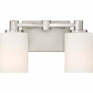 Details About Quoizel Bowing 13 Bath Fixture With 2 Lights Brushed Nickel Bwg8602bn