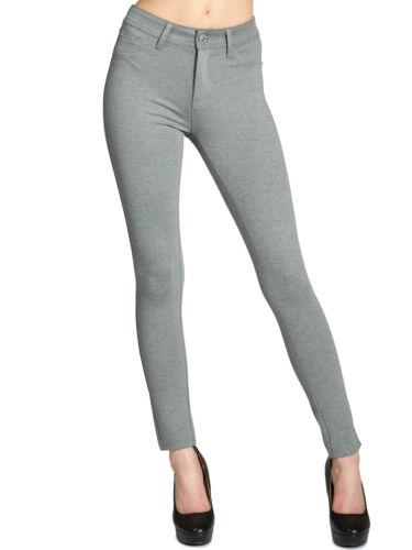 Caspar hle026 da Donna Skinny Stretch Pantaloni Leggings Jeggings elegante strettamente