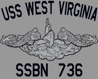 USS West Virginia SSBN-736 Sweatshirt or Hoodie US Navy Officially Licensed