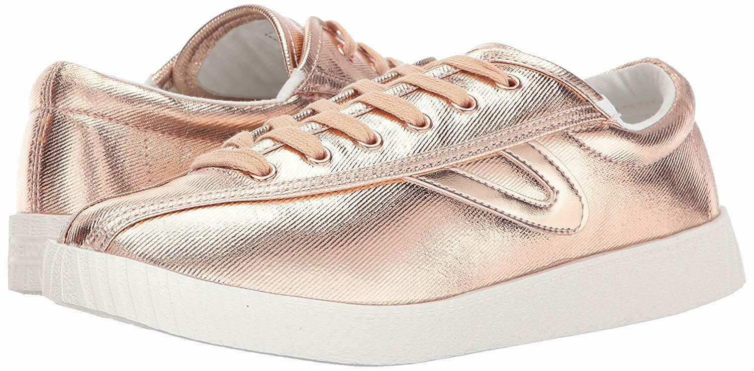Tretorn Women's Nylite Plus Casual Lace Up Fashion Sneakers pink Waxy Canvas