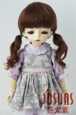6-7/'/' Lati Green Doll Hair YOSD French Braids Synthetic Mohair BJD Doll Wig 1//6