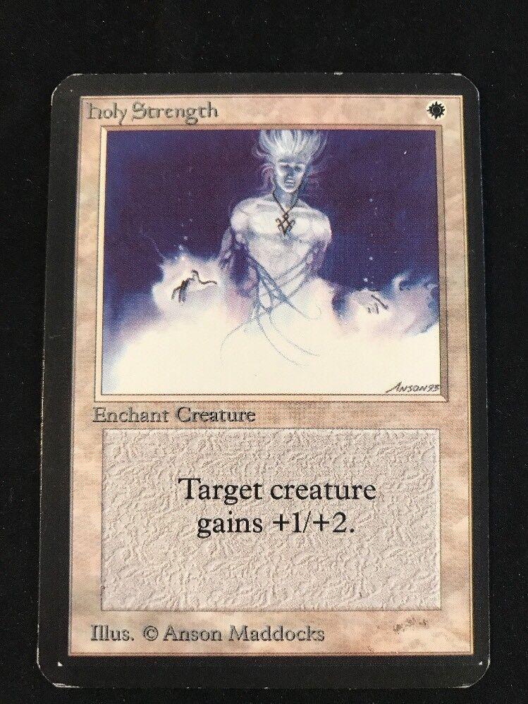 HOLY STRENGTH MTG Magic The Gathering 1993 Alpha ENGLISH VINTAGE OOP++++