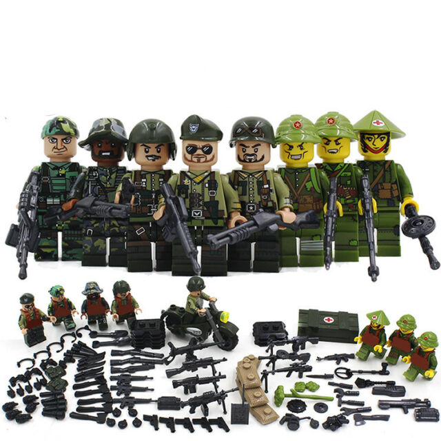 WW2 Classic Military lego Soldiers Building Block SWAT Special Forces US Army