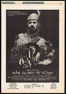 681-AD-THE-GLORY-OF-KHAN-Original-1983-Trade-print-AD-poster-movie-promo