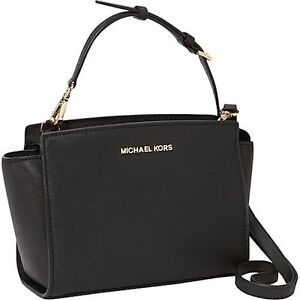 Image Is Loading Bkps Michael Kors Medium Selma Saffiano Leather Messenger