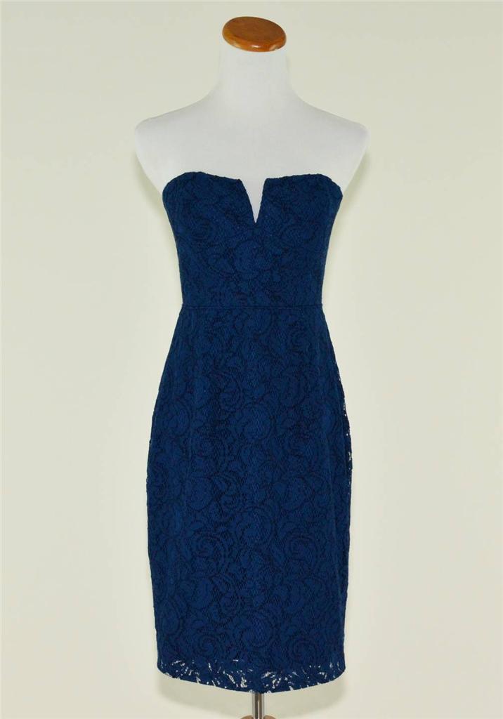 J.CREW  228 CATHLEEN STRAPLESS LACE DRESS 2 ACROPOLIS ACROPOLIS ACROPOLIS blueE BRIDESMAID PARTY 745828