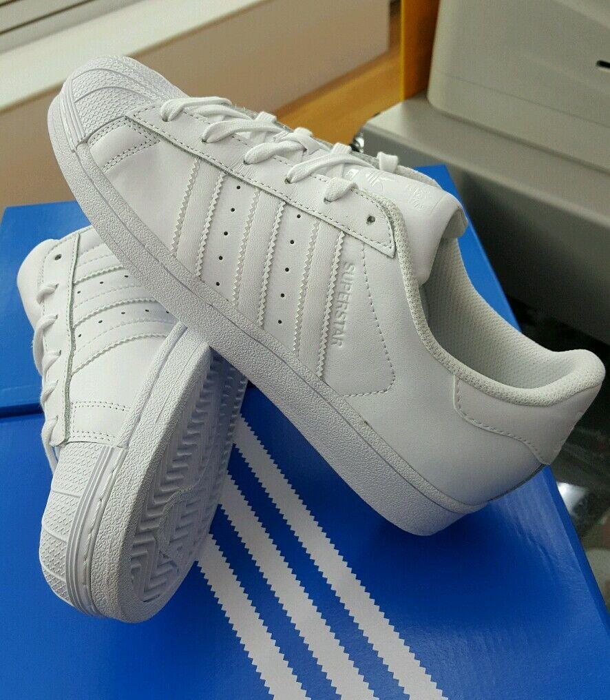 Adidas superstar fondazione noi j (b23641) bianco classico ragazzi giovani noi fondazione sz 6,5 c8722d