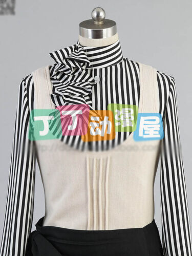 Hot Anime Black Butler Dagger Circus Black and White Cosplay Costume