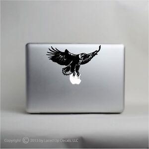 American Bald Eagle 2-5 Inch Black Vinyl Decal for Macbook