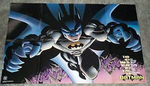 1997-DC-Comics-Batman-34-x22-Dark-Knight-detective-promotional-poster-1990-039-s-JLA