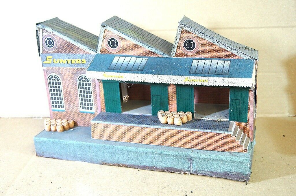 O GAUGE SCALE KIT BUILT BR GWR LNER GOODS SHED BUILDING MODEL NICE my