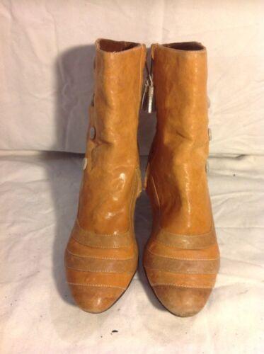 38 pelle beige Stivali caviglia fire in taglia Miss L con qHxZ1zHw