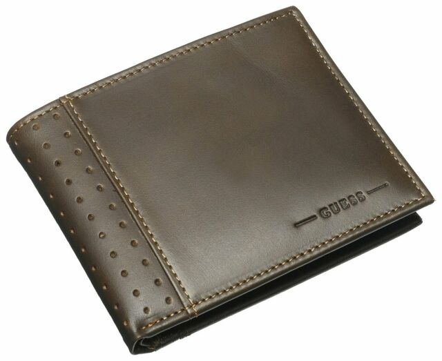 ae2c6c1bd GUESS Men's Leather Credit Card Wallet Billfold 31gu22x035 Brown for ...
