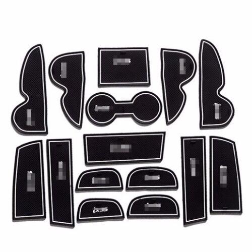 For Hyundai IX35 2009-2012 Non-slip Interior Door Slot Pad Rubber Cup Holder Mat