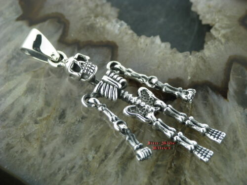 Remolque de cadenas calavera Skull esqueleto Gothic Celtic pendants plata 925