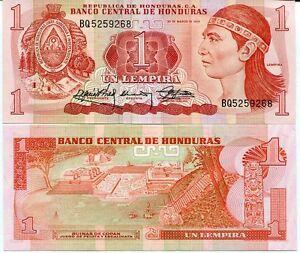 HONDURAS 1 LEMPIRA 1989 P 68 UNC