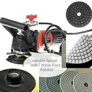 Details About Wet Grinder Polisher Concrete Sanding Granite Polishing Pad 15 2 Buffer Terrazzo