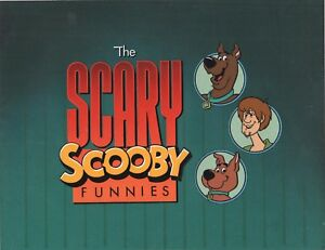 SCOOBY DOO 1984 Scary Scooby Funnies Main Title Bumper Production Cel Hanna B