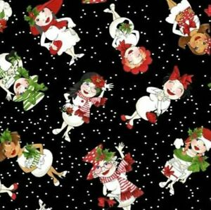 Loralie-Designs-Black-Tossed-Snowball-Ladies-Cotton-Fabric-692-404-BTY