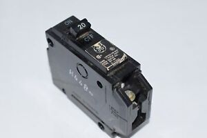 General Electric THQL1120 Circuit Breaker 1-Pole 20-Amp Thick Series GE