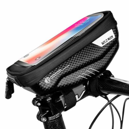 Bike Bag Bicycle Pouch Frame Waterproof Handlebar Phone Holder Touch Screen