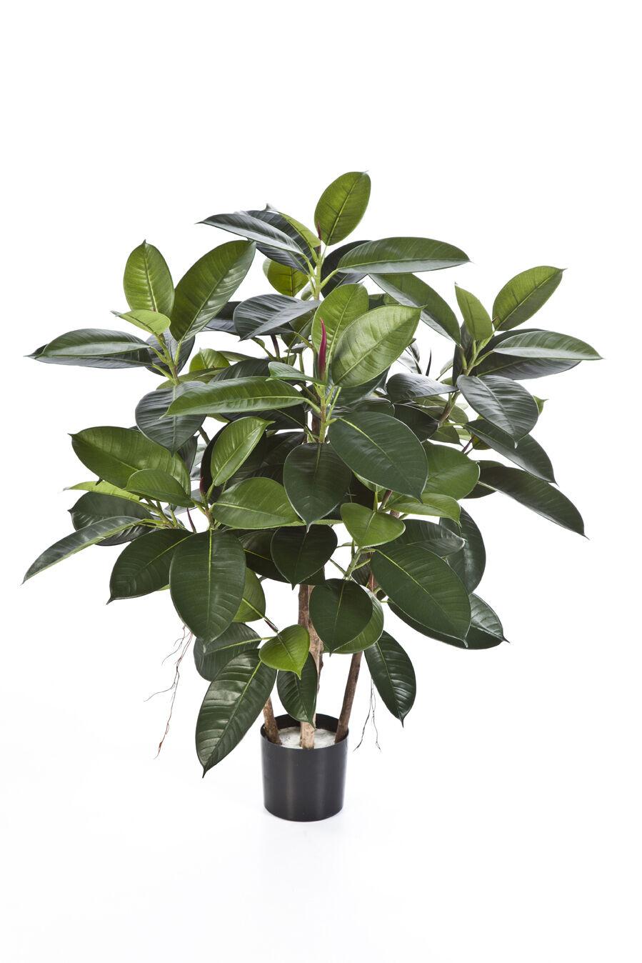 Artplants Künstlicher Gummibaum NOVA, 90cm - Kunst Baum   Deko Baum
