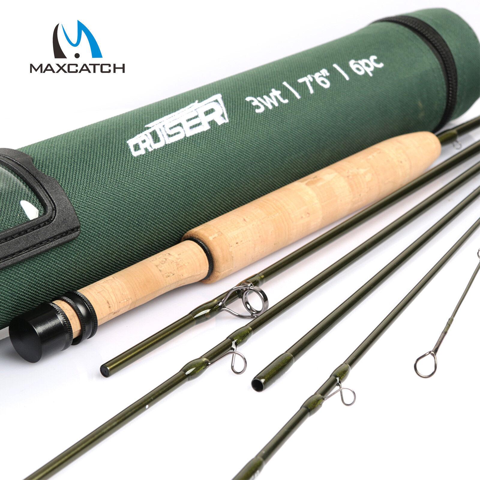 Maxcatch CRUISER Viajes De Pesca Con Mosca  Caña 2 3 4wt 7' 6  7' 8' 6 un. de acción rápida  bajo precio