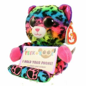 TY Beanie Babies Boo Peek A Boos LANCE the LEOPARD Phone Holder New with Tags
