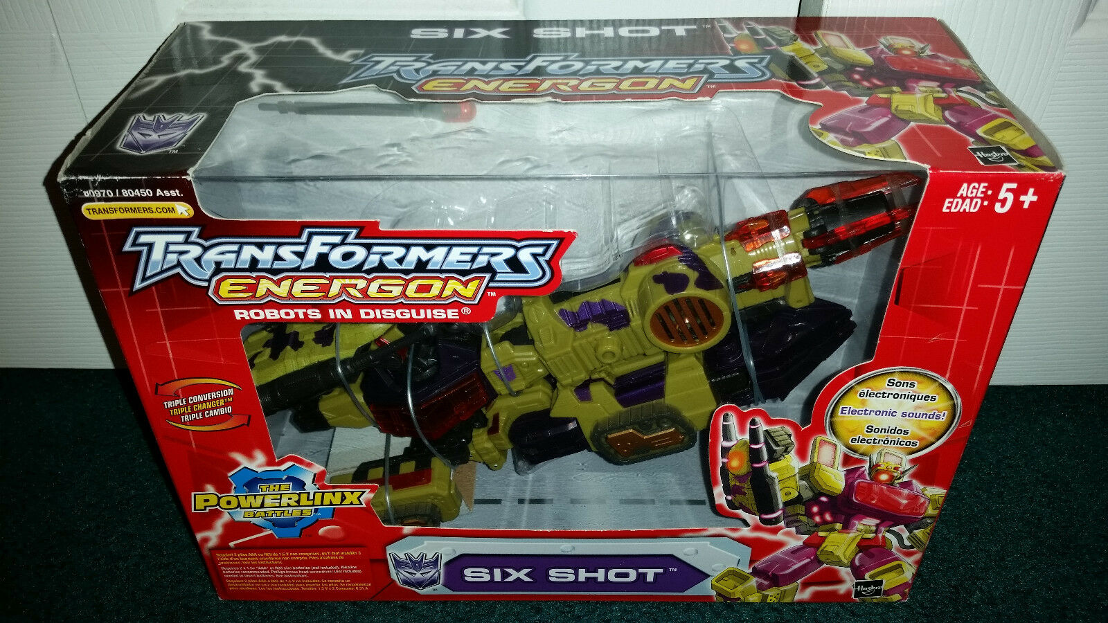 Six Shot Energon Transformers Hasbro MISP  2004 The Powerlinx Battles