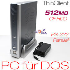 1500MHZ MINI-COMPUTER PC IGEL FÜR DOS WIN 95 98 512MB DDR2 RAM 512MB CF DVI