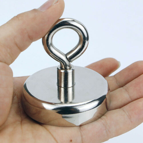 Super Strong Magnet Round Powerful Force Neodymium River Fishing Eyebolt Durable