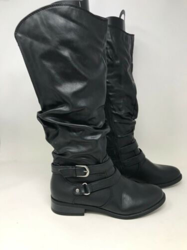 Women/'s Jaclyn Smith 30616 Erica Riding Boots New w// Defects SIZE 9 Black U6