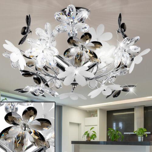 Kristall Lampe Decken Strahler Blüten Küchen Flur Luxus Leuchte Blumen Dekor