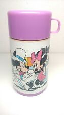 VTG MICKEY & MINNIE MOUSE HOLLYWOOD Thermos Walt Disney Hot Cold Sip Top Bottle