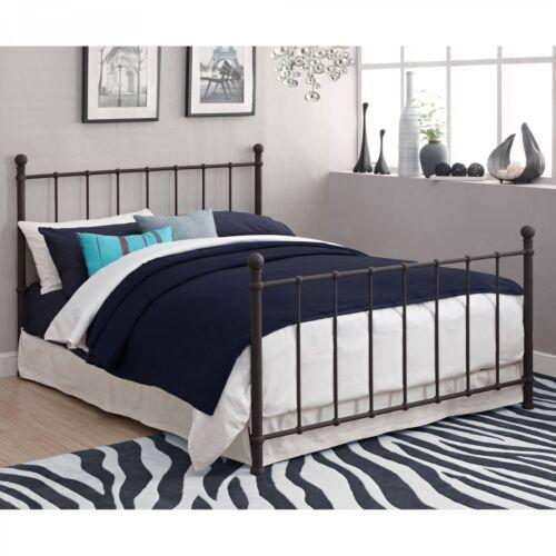 Metal Full Bed Adjustable Adult Bronze White Room Furniture Headboard Footboard