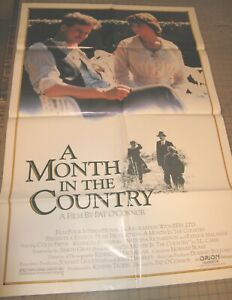 "1987 A MONTH IN THE COUNTRY 27"" x 41"" One-Sheet UK Theater Poster GD Colin Firth"