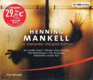 Henning-Mankell-Die-Wallander-Hoerspiel-Edition-9-CDs-NEU-Krimi-Hoerspiele-TOP