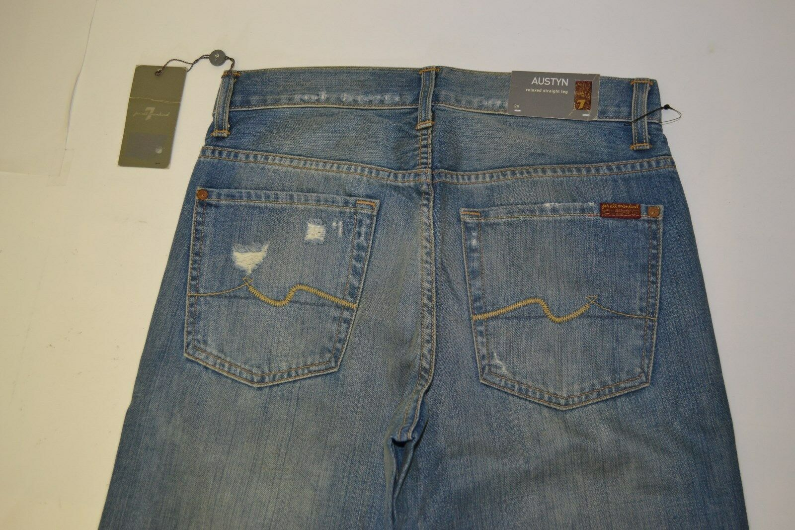 Seven 7 for All Mankind Men's bluee Jeans 29 34 Relaxed Straight Leg NEW TAGS