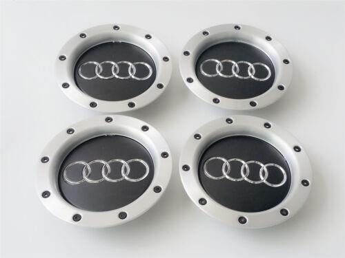 4x NUEVO AUDI 146 mm Aluminio tapones de rueda de centro Hub insignias llantas cubre 8D0601165K