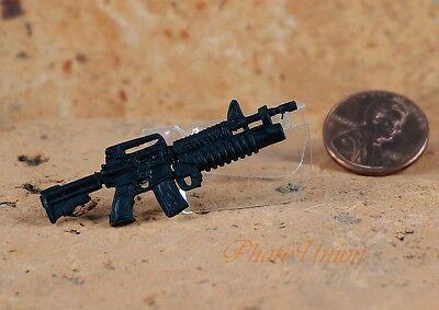 "Hasbro GI Joe 1:18 Action Figure Accessory 3.75"" M4 Carbine M203 RIFLE G19_G"