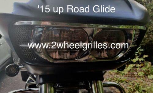 2015 Harley Davidson Road Glide Custom Chrome Fairing Grills Screens Vents