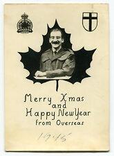 "WW2 1945 Xmas/New Year Card: ""British Empire Service League Canadian Legion"""