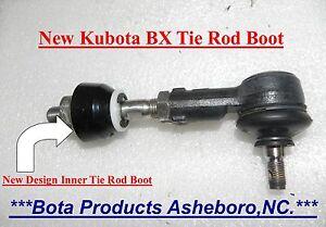 Kubota BX & GR Inner Tie Rod Boots Upgrade (all BX models) Kubota # K1253-01660)