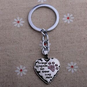 Pet-Memorial-Keyring-Dog-Cat-No-Longer-By-My-Side-Forever-In-My-Heart-PINK-Gift